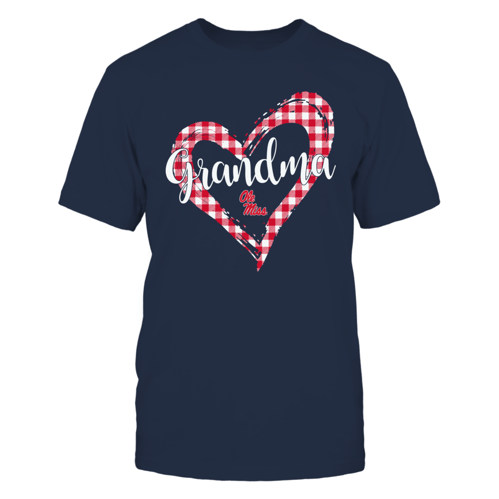 Ole Miss Rebels - Checkered Heart Outline - Grandma Front picture