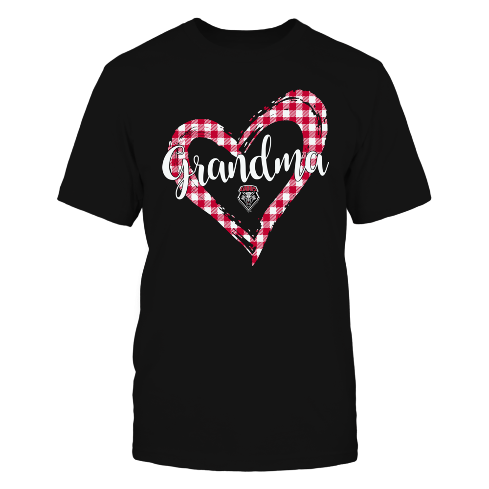 New Mexico Lobos - Checkered Heart Outline - Grandma Front picture
