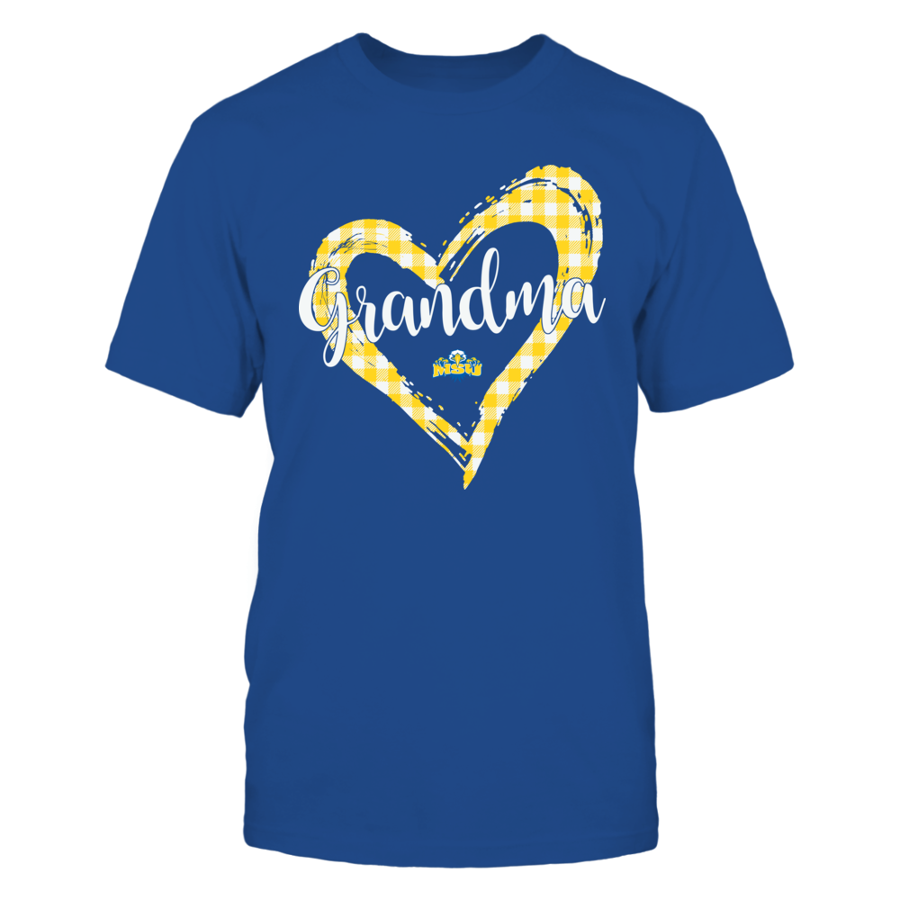 Morehead State Eagles - Checkered Heart Outline - Grandma Front picture