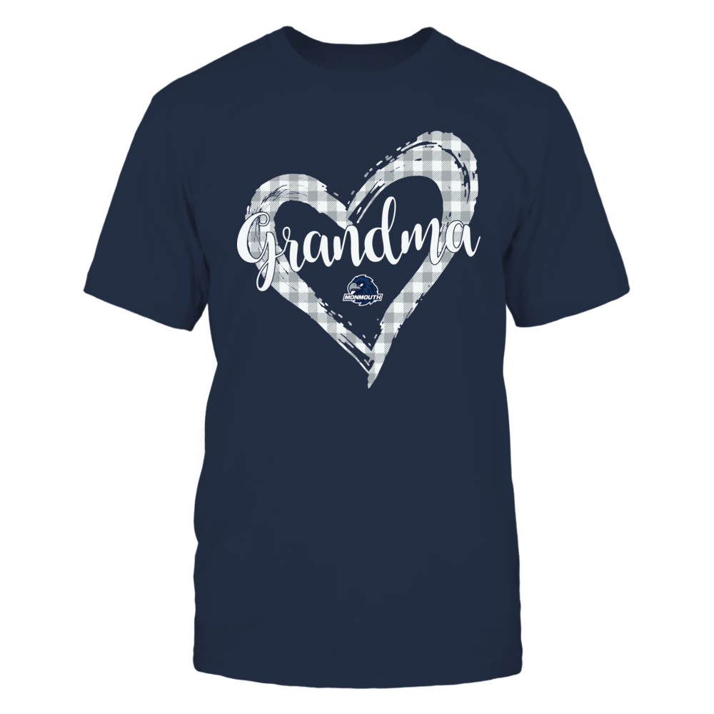 Monmouth Hawks - Checkered Heart Outline - Grandma Front picture