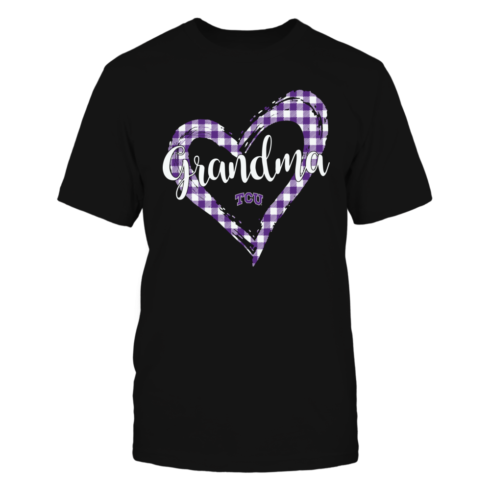 TCU Horned Frogs - Checkered Heart Outline - Grandma Front picture