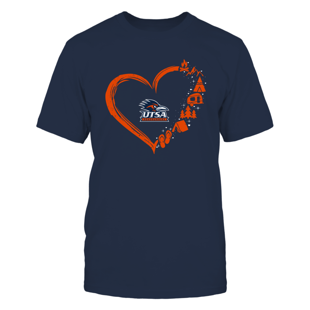 UTSA Roadrunners - Camping Things - Heart Outline Front picture
