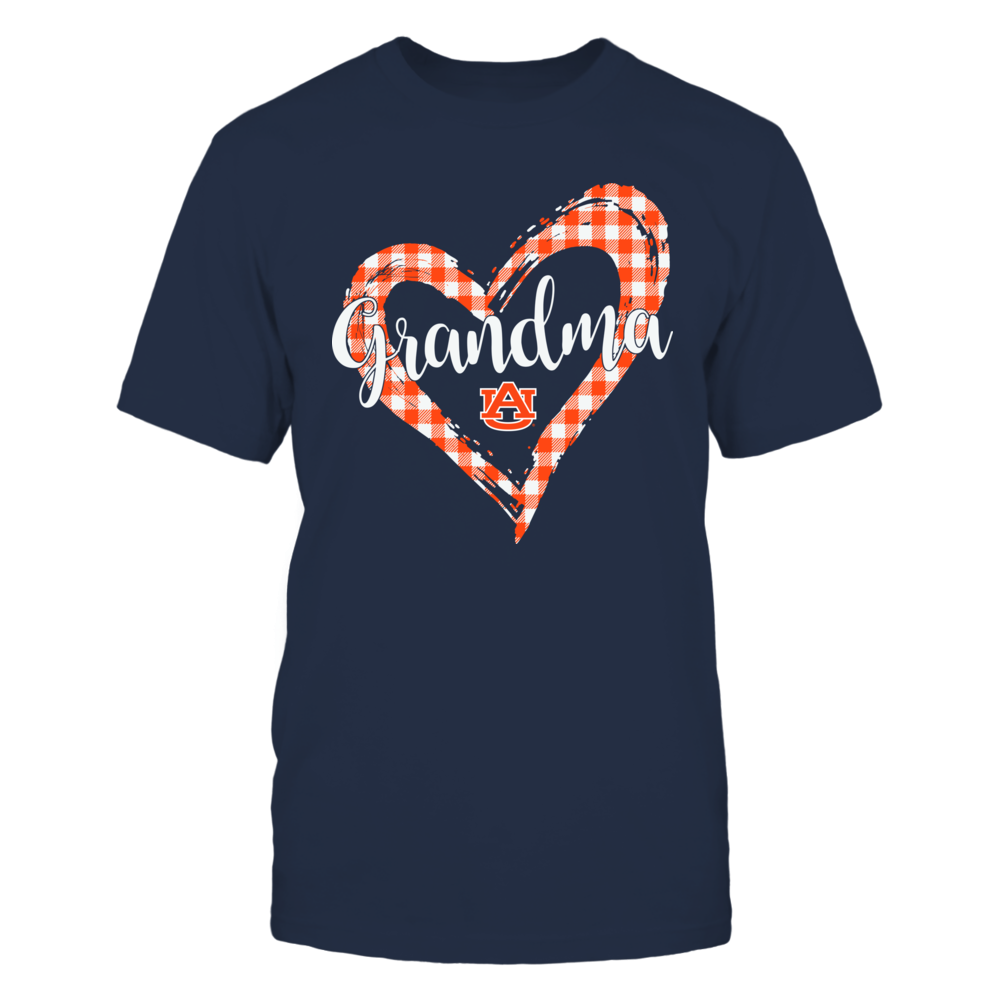 Auburn Tigers - Checkered Heart Outline - Grandma Front picture