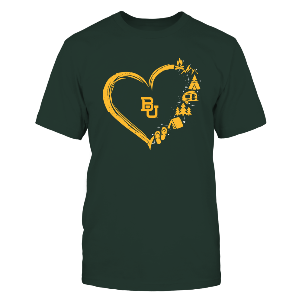Baylor Bears - Camping Things - Heart Outline Front picture