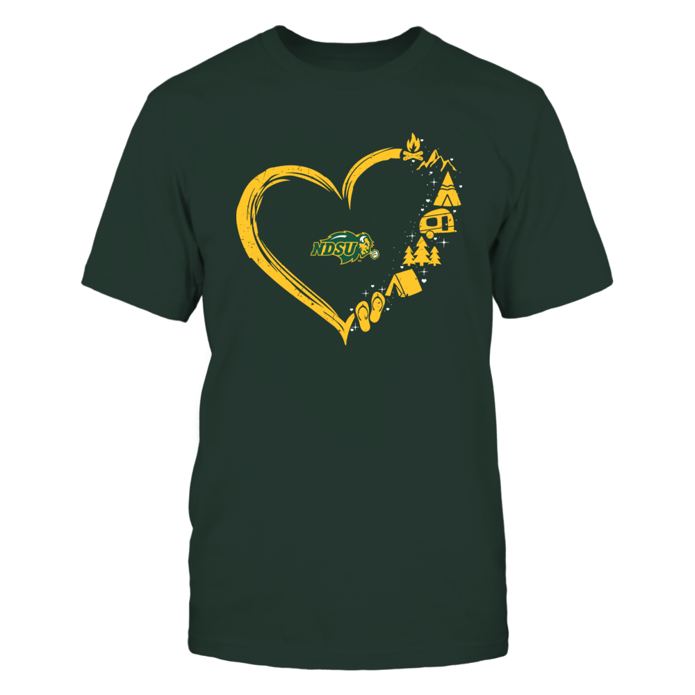 North Dakota State Bison - Camping Things - Heart Outline Front picture