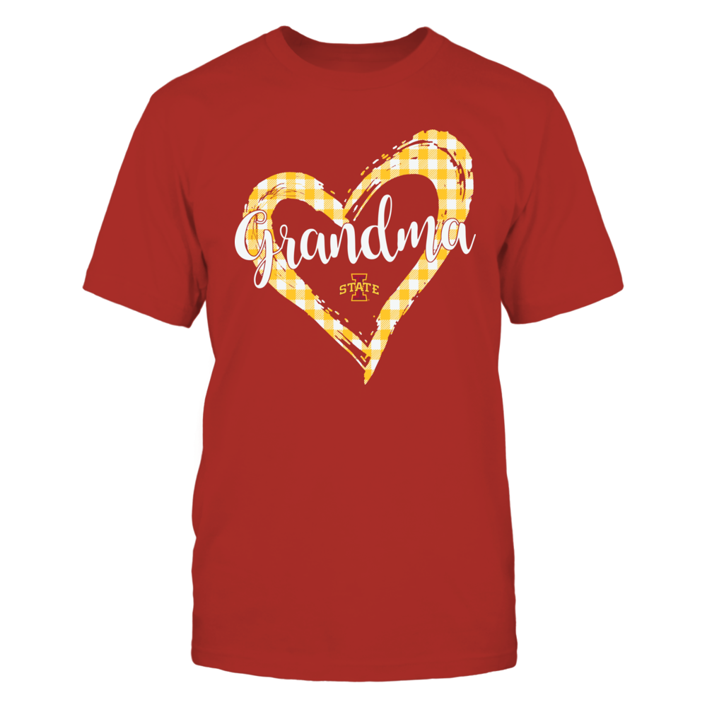 Iowa State Cyclones - Checkered Heart Outline - Grandma Front picture