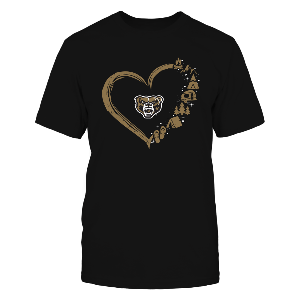 Oakland Golden Grizzlies - Camping Things - Heart Outline Front picture