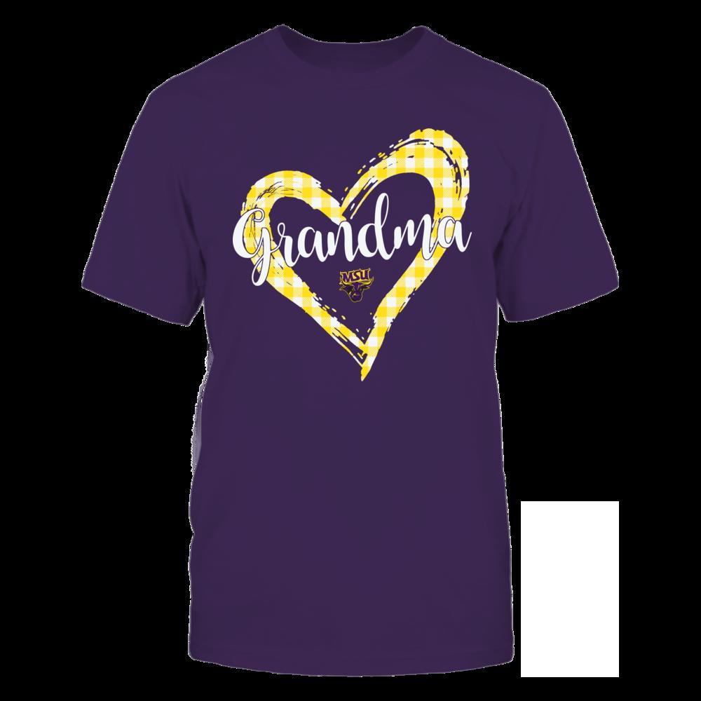 Minnesota State Mavericks - Checkered Heart Outline - Grandma Front picture