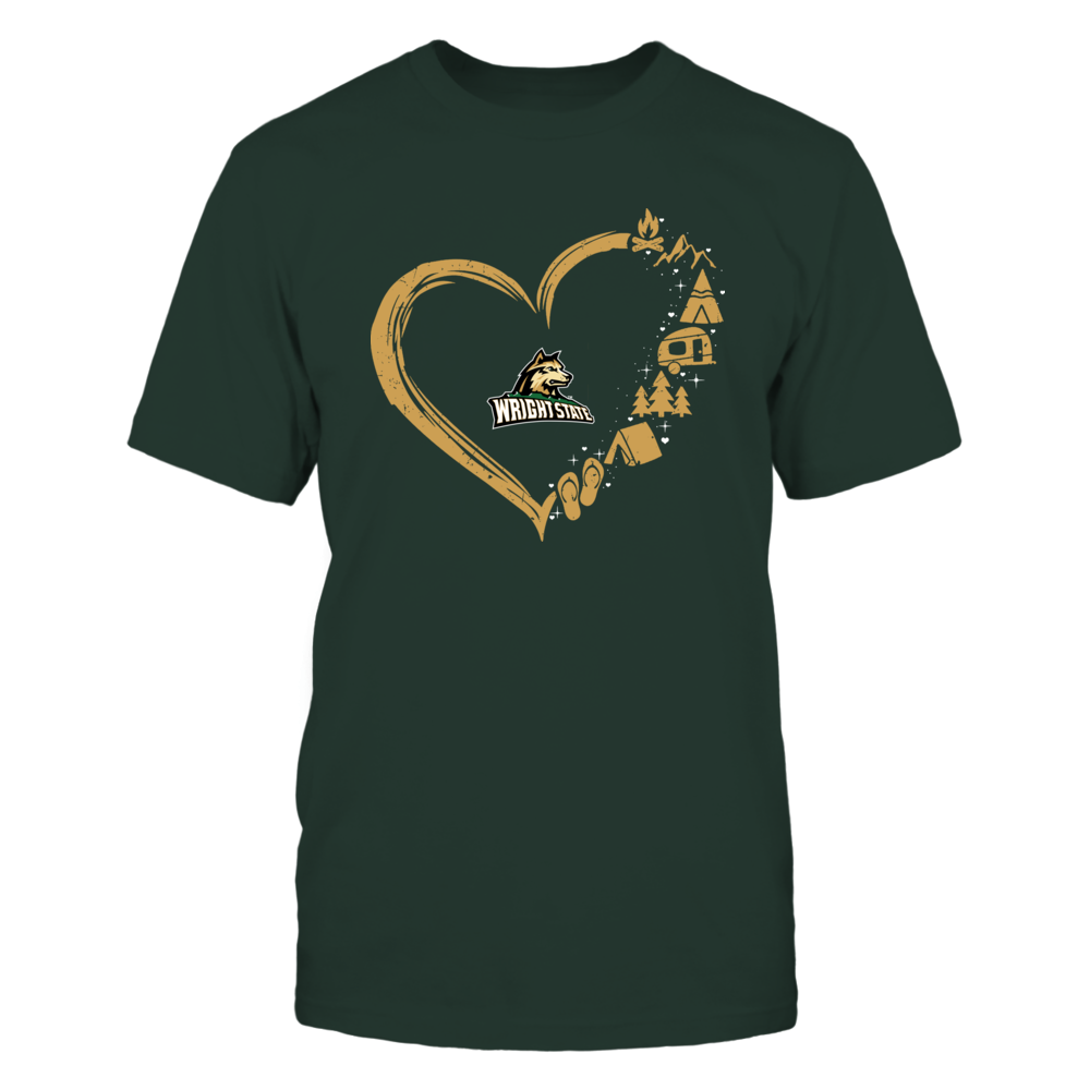Wright State Raiders - Camping Things - Heart Outline Front picture
