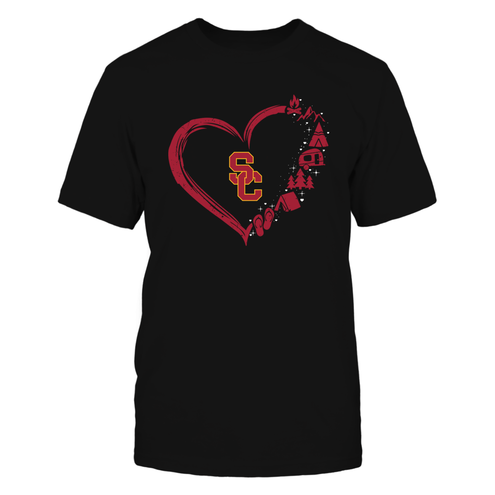 USC Trojans - Camping Things - Heart Outline Front picture