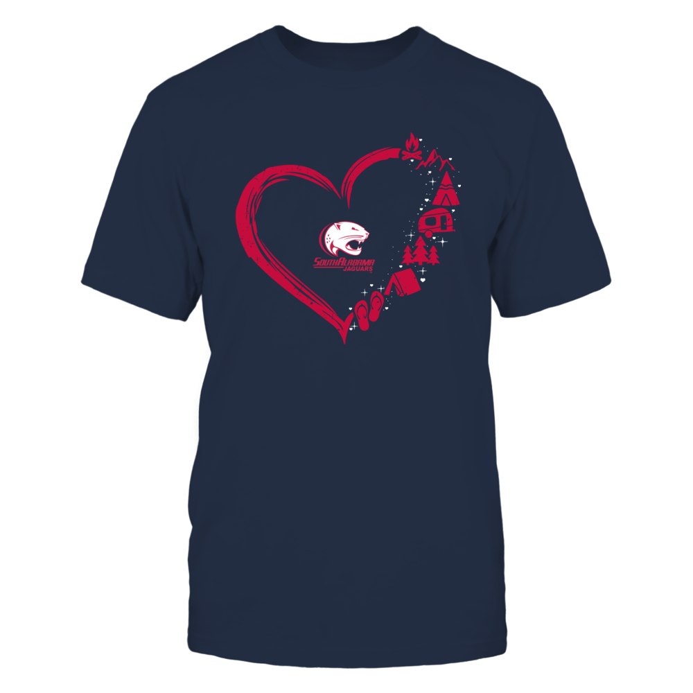 South Alabama Jaguars - Camping Things - Heart Outline Front picture