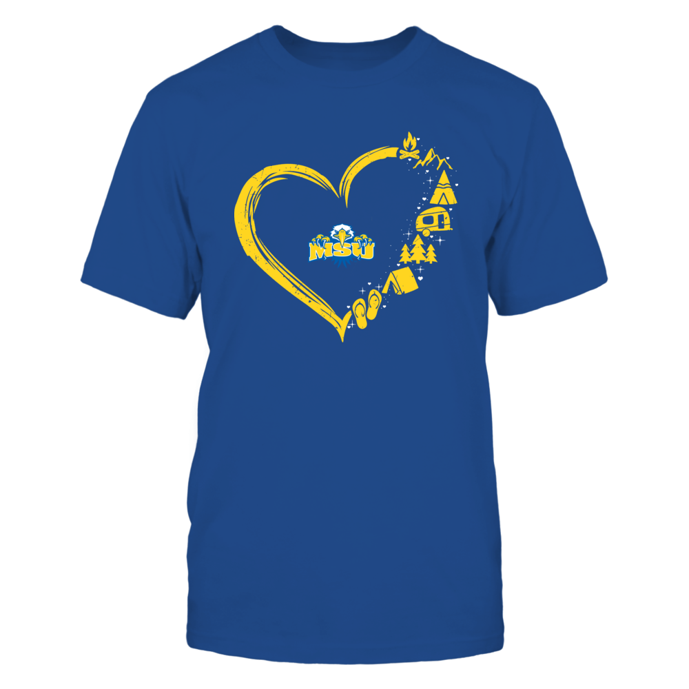 Morehead State Eagles - Camping Things - Heart Outline Front picture