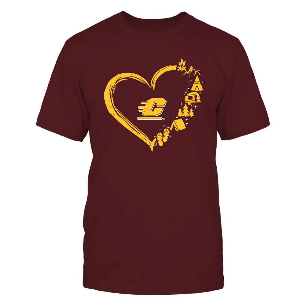 Central Michigan Chippewas - Camping Things - Heart Outline Front picture