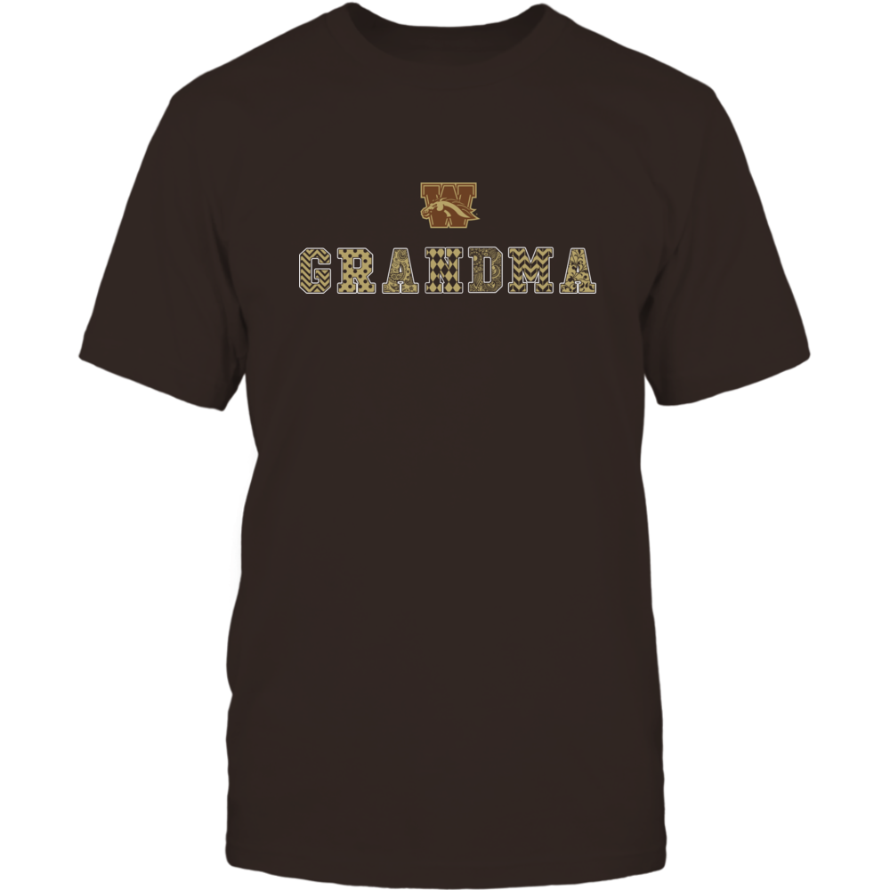 Western Michigan Broncos - Patterned Grandma Front picture