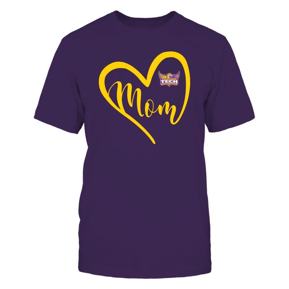 Tennessee Tech Golden Eagles - Heart Mom - Team Front picture