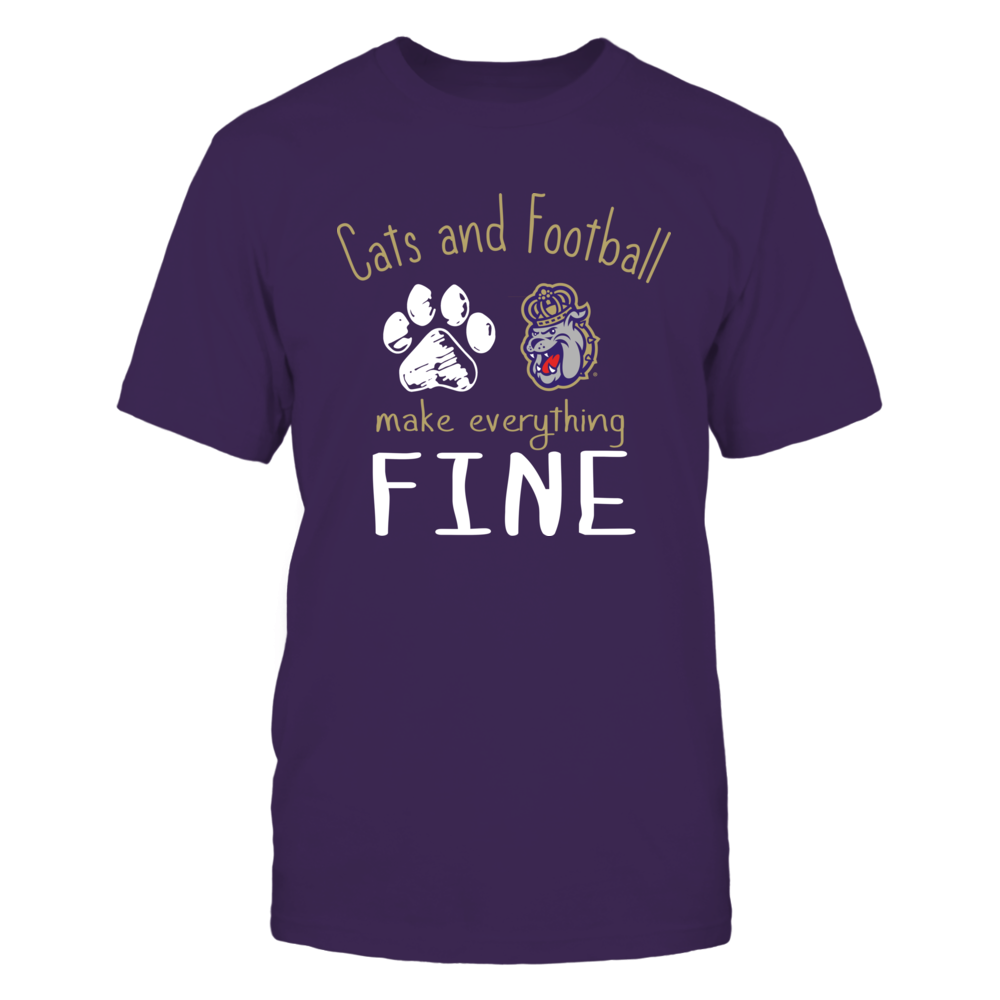 James Madison Dukes - Cats And Football Make Everything Fine Front picture