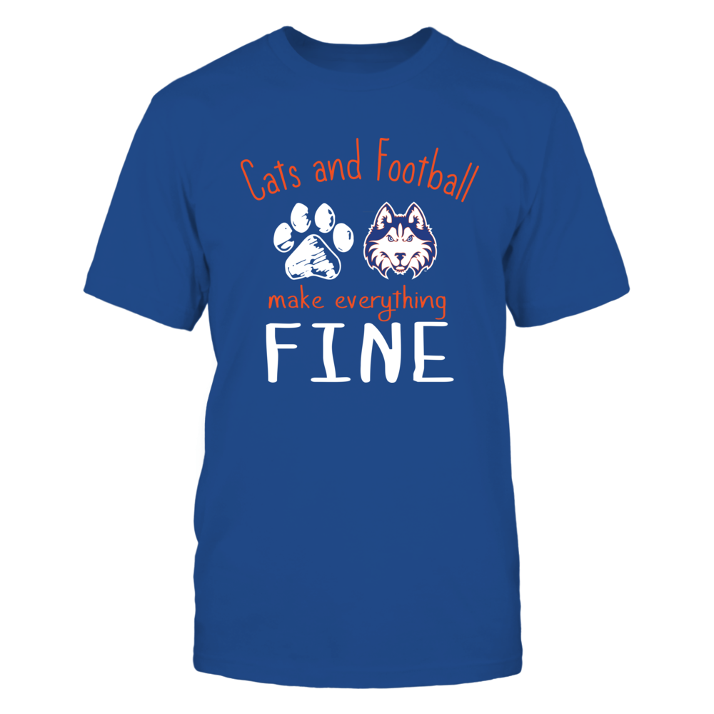 Houston Baptist Huskies - Cats And Football Make Everything Fine Front picture