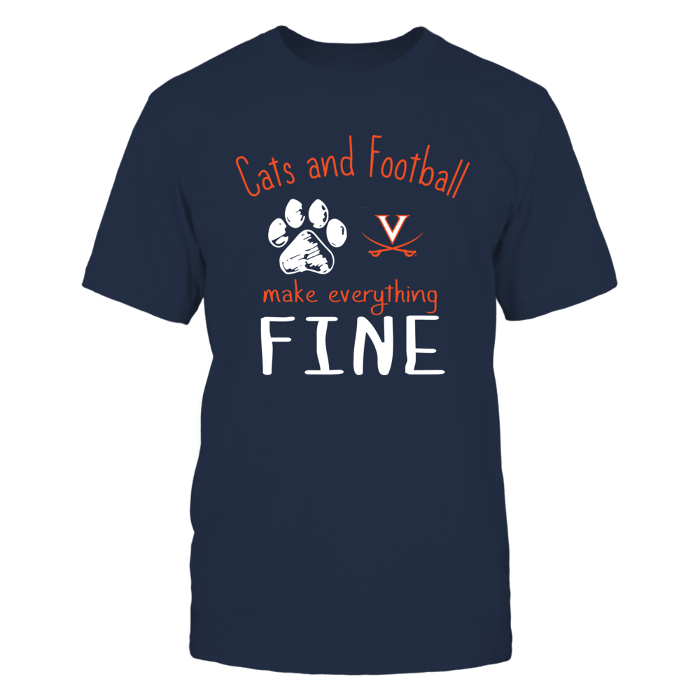 Virginia Cavaliers - Cats And Football Make Everything Fine Front picture