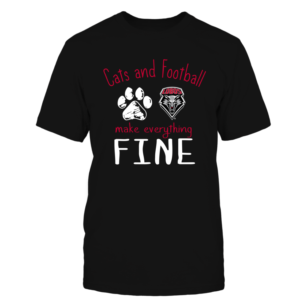 New Mexico Lobos - Cats And Football Make Everything Fine Front picture