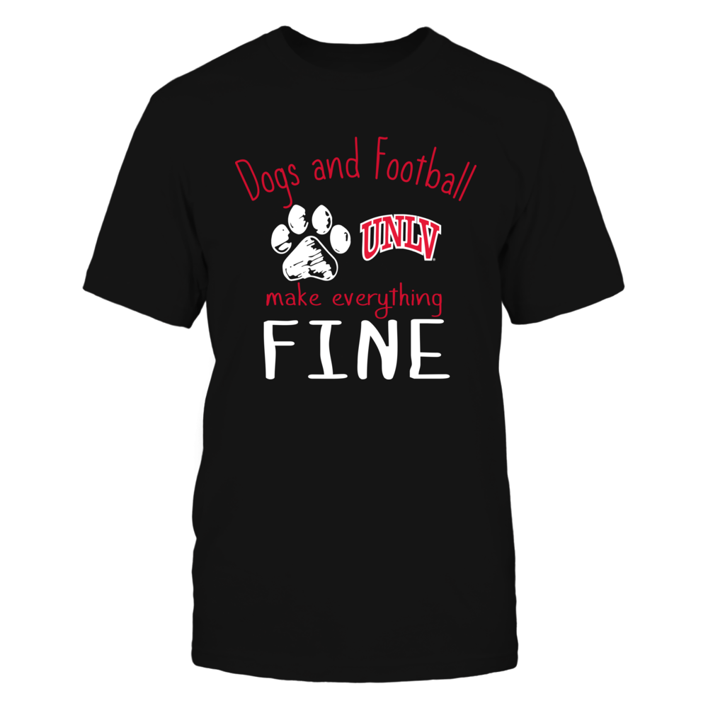 UNLV Rebels - Dogs And Football Make Everything Fine Front picture