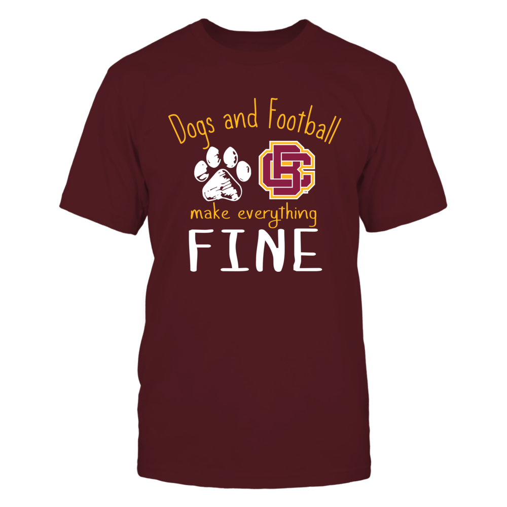 Bethune-Cookman Wildcats - Dogs And Football Make Everything Fine Front picture