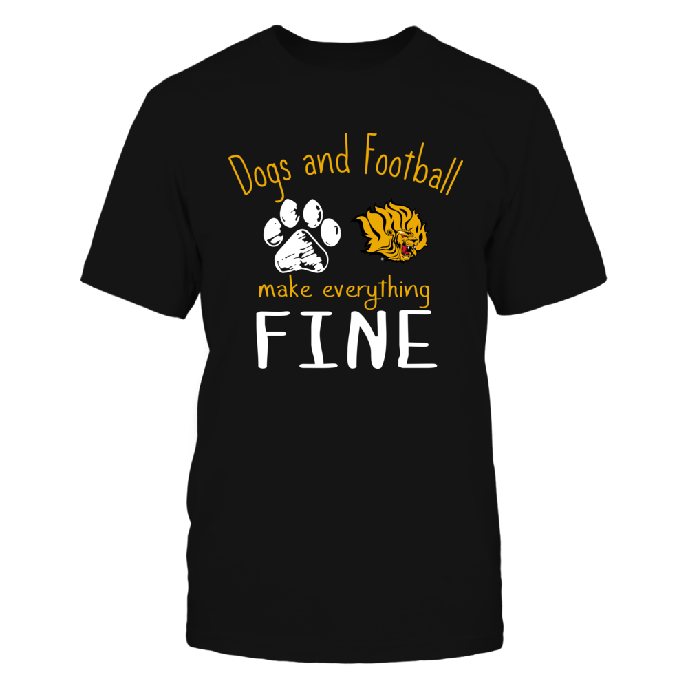 Arkansas Pine Bluff Golden Lions - Dogs And Football Make Everything Fine Front picture