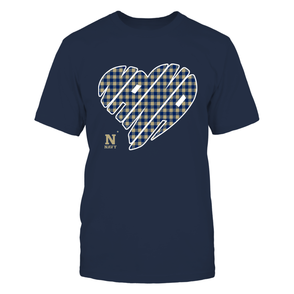 Navy Midshipmen - Nana - Heart Shape - Checkered Front picture