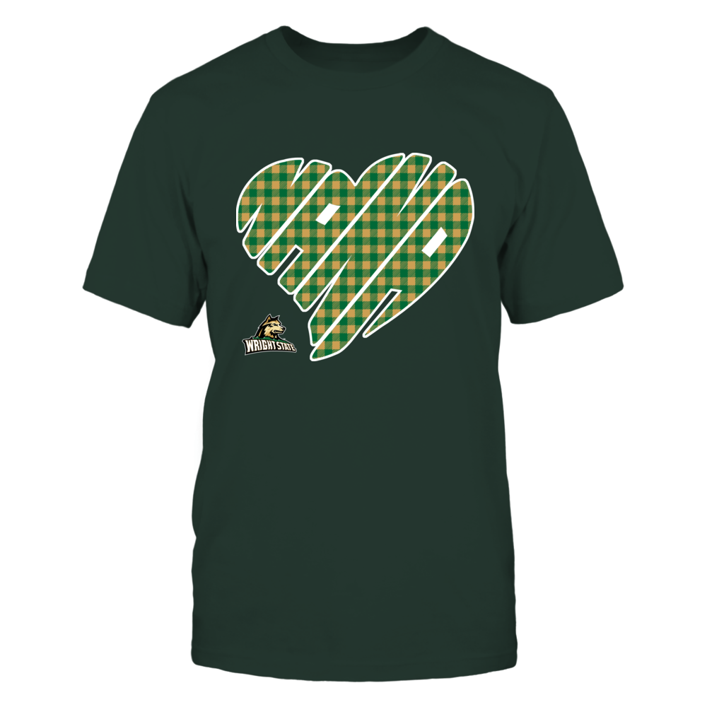 Wright State Raiders - Nana - Heart Shape - Checkered Front picture