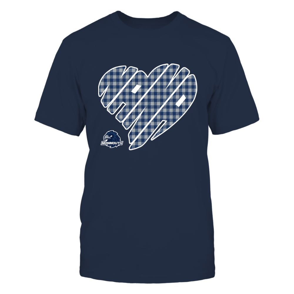 Monmouth Hawks - Nana - Heart Shape - Checkered Front picture