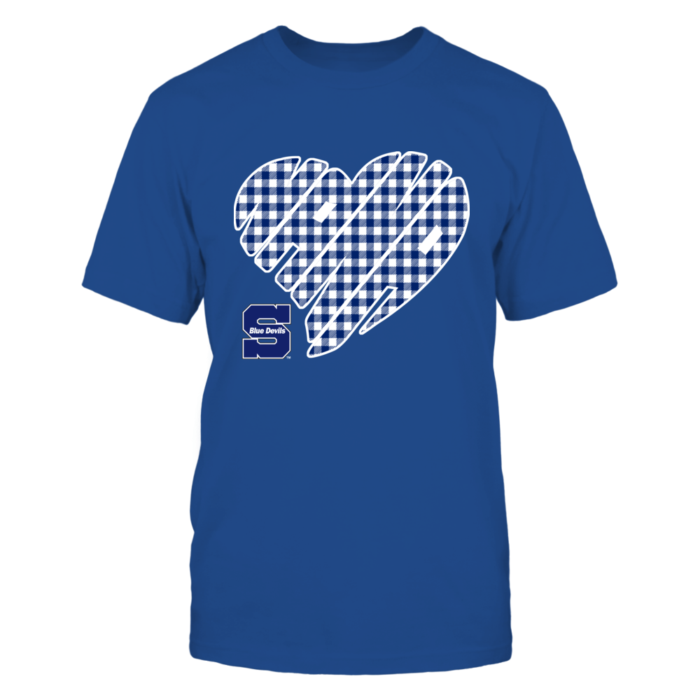 Wisconsin Stout Blue Devils - Nana - Heart Shape - Checkered Front picture