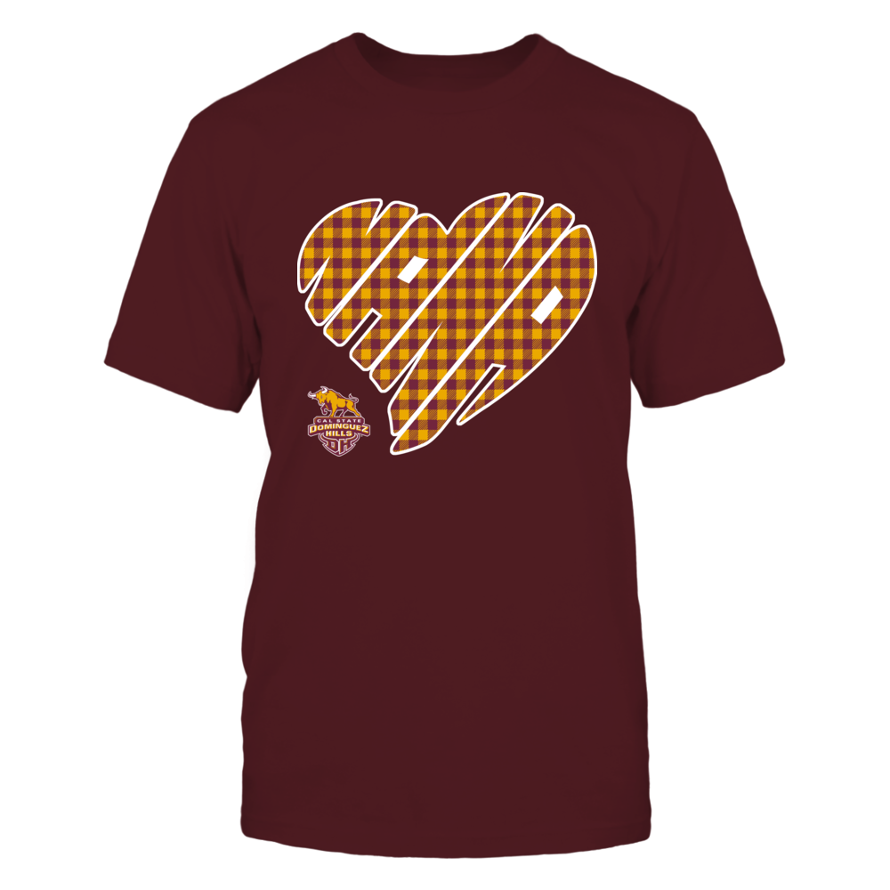 Cal State Dominguez Hills Toros - Nana - Heart Shape - Checkered Front picture