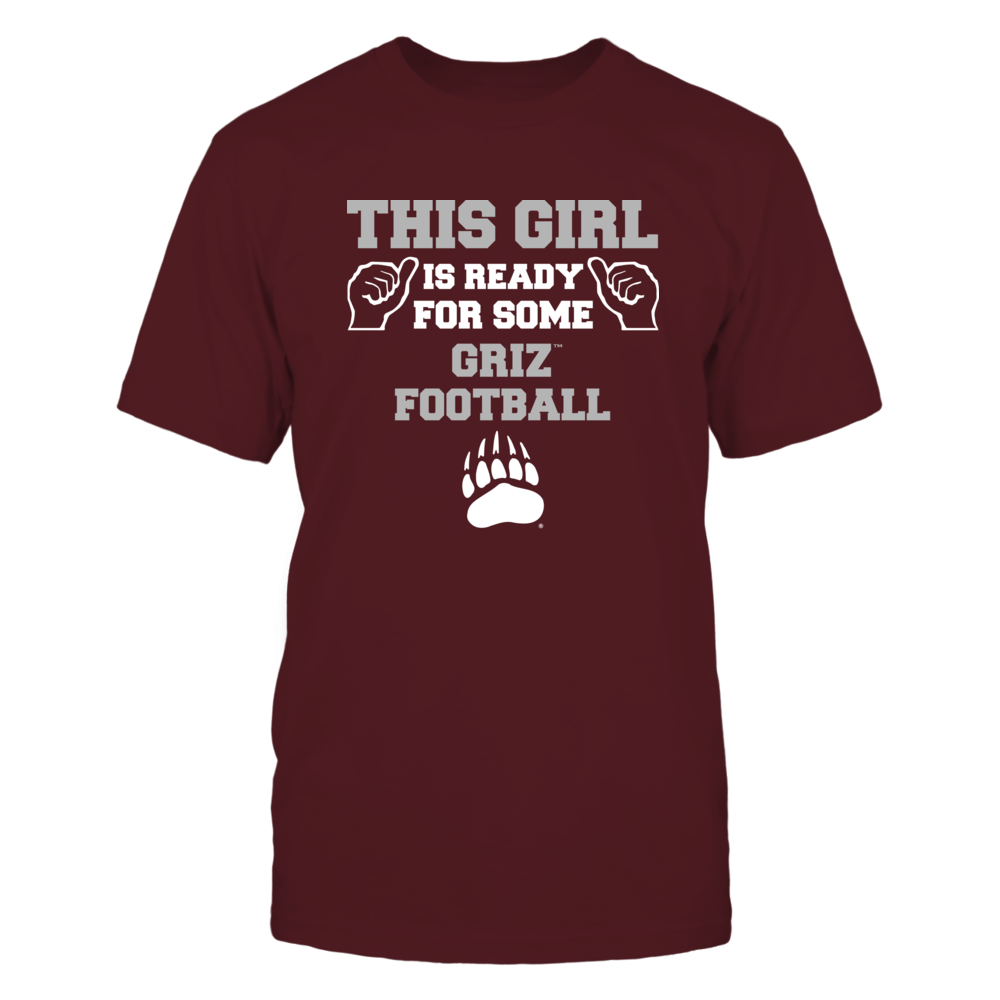 Montana Grizzlies - This Girl is Ready for Football Front picture