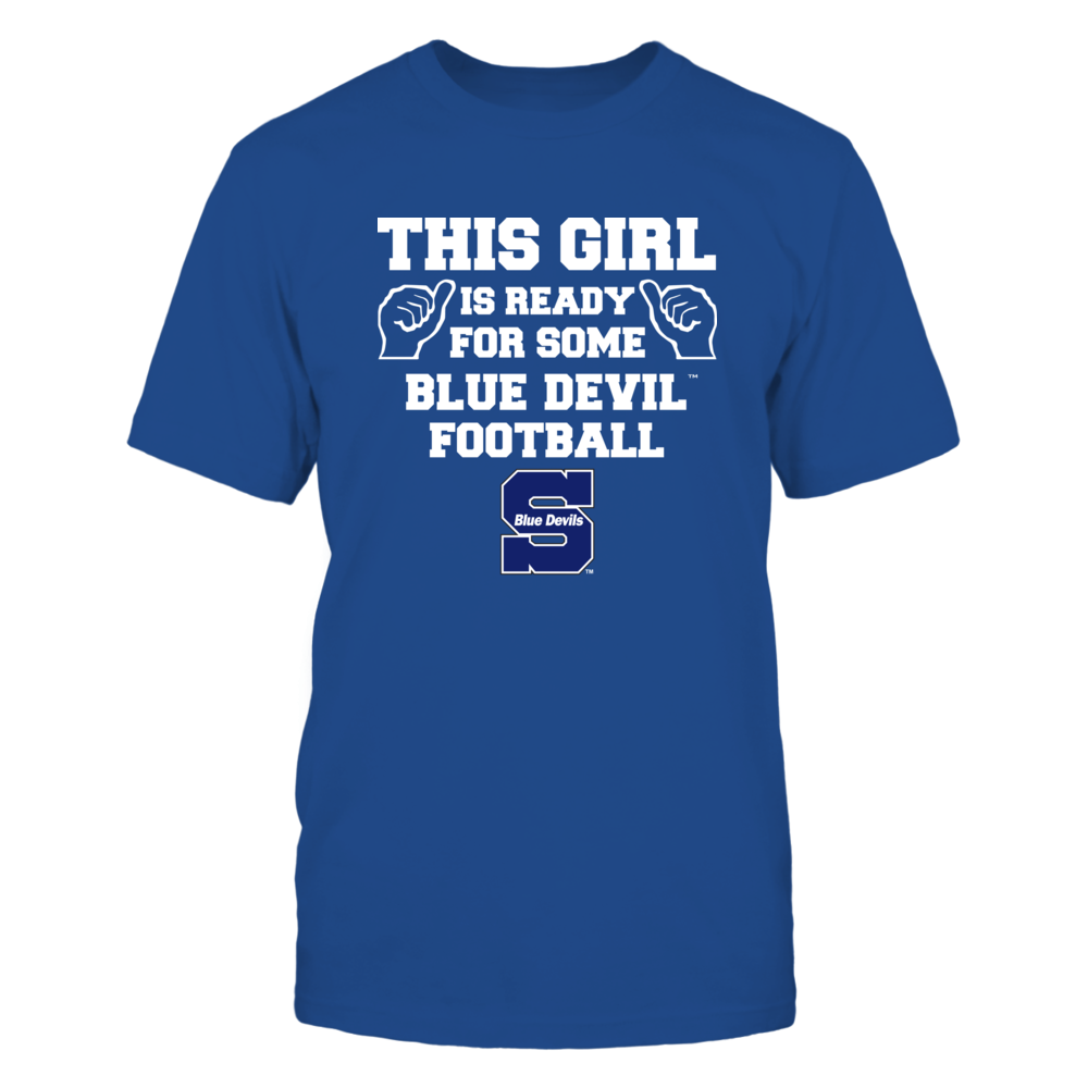 Wisconsin Stout Blue Devils - This Girl is Ready for Football Front picture