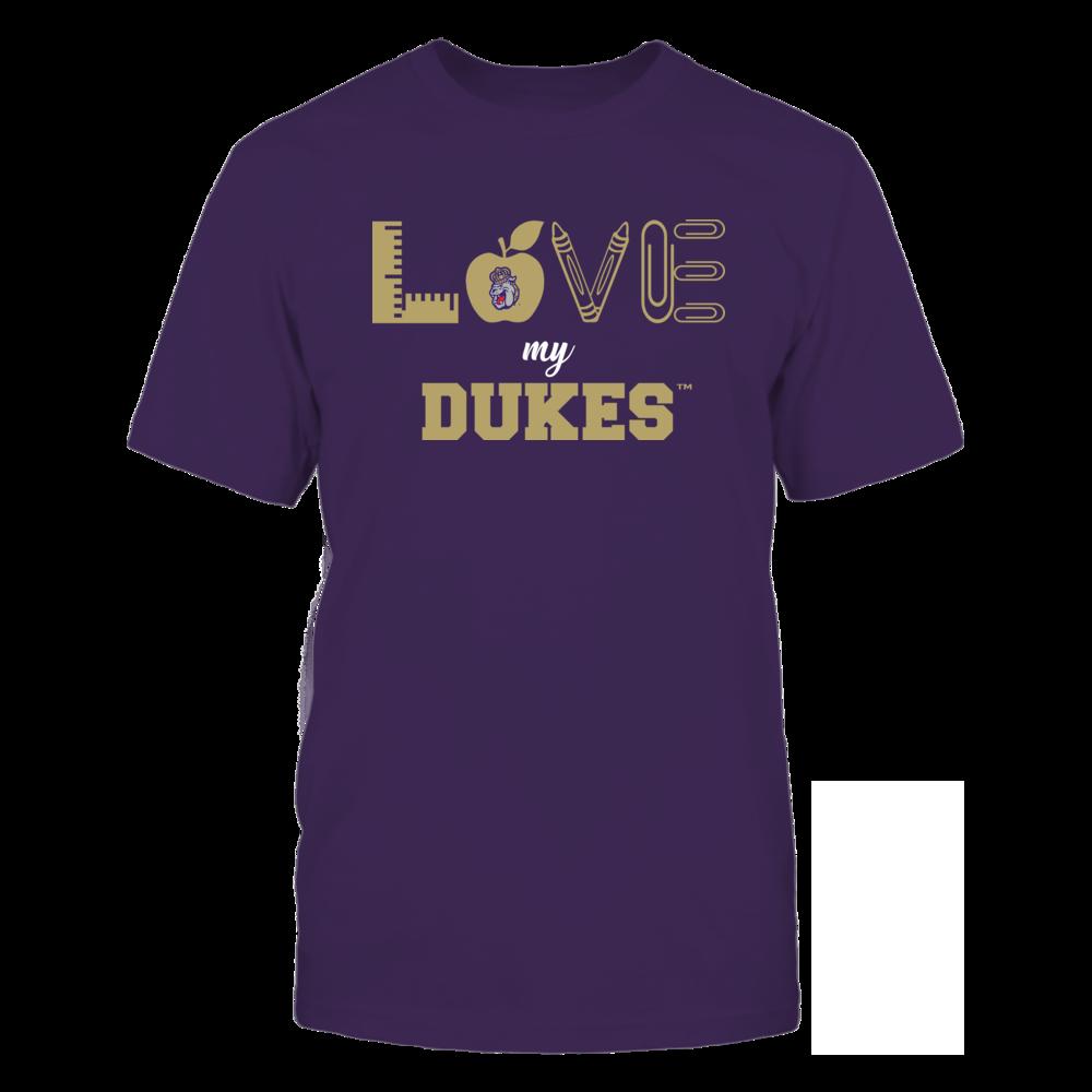 James Madison Dukes - Love - Teacher Symbols - Team Front picture