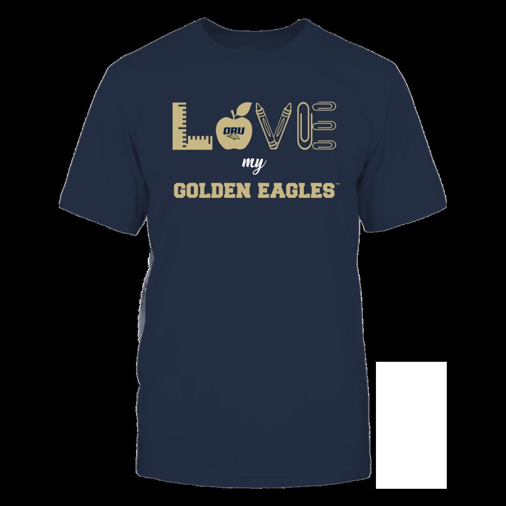 Oral Roberts Golden Eagles - Love - Teacher Symbols - Team Front picture