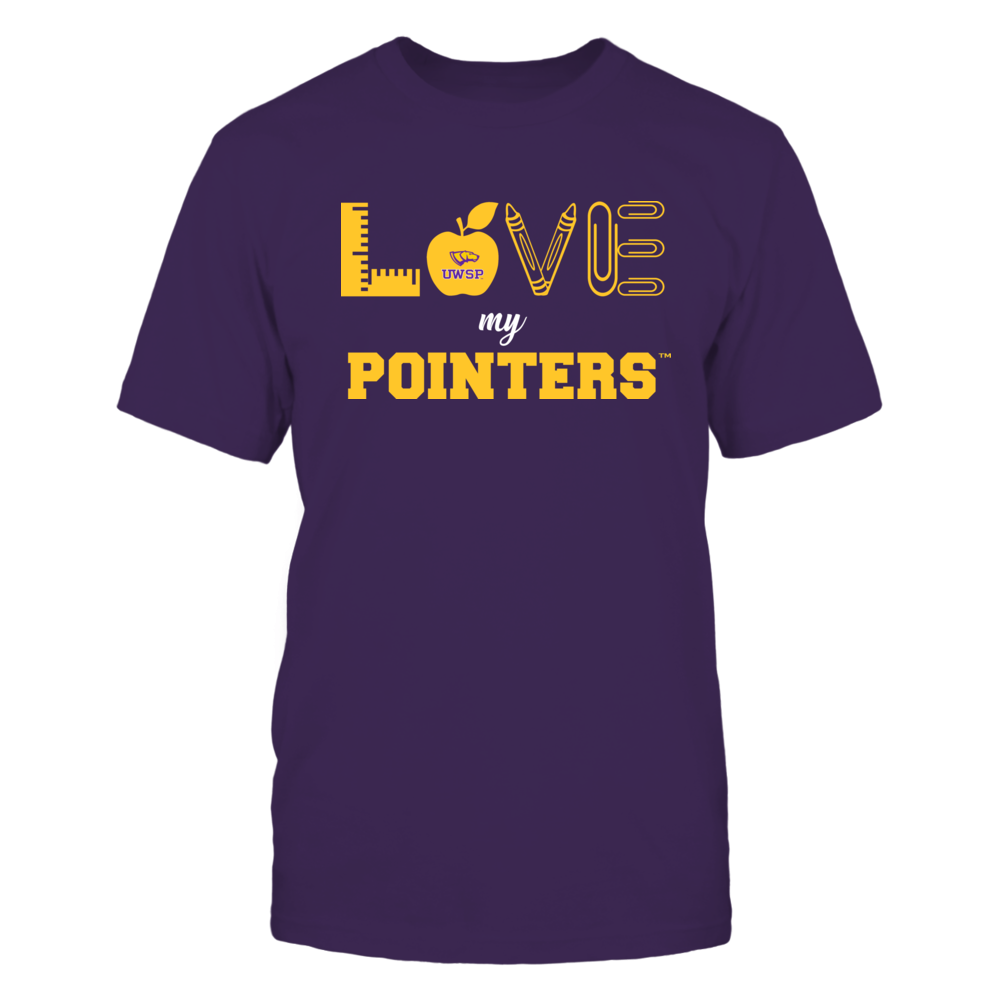 Wisconsin-Stevens Point Pointers - Love - Teacher Symbols - Team Front picture