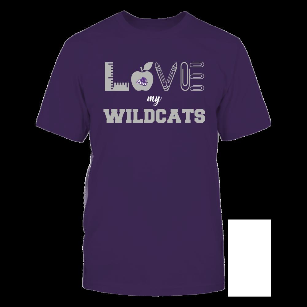 Abilene Christian Wildcats - Love - Teacher Symbols - Team Front picture