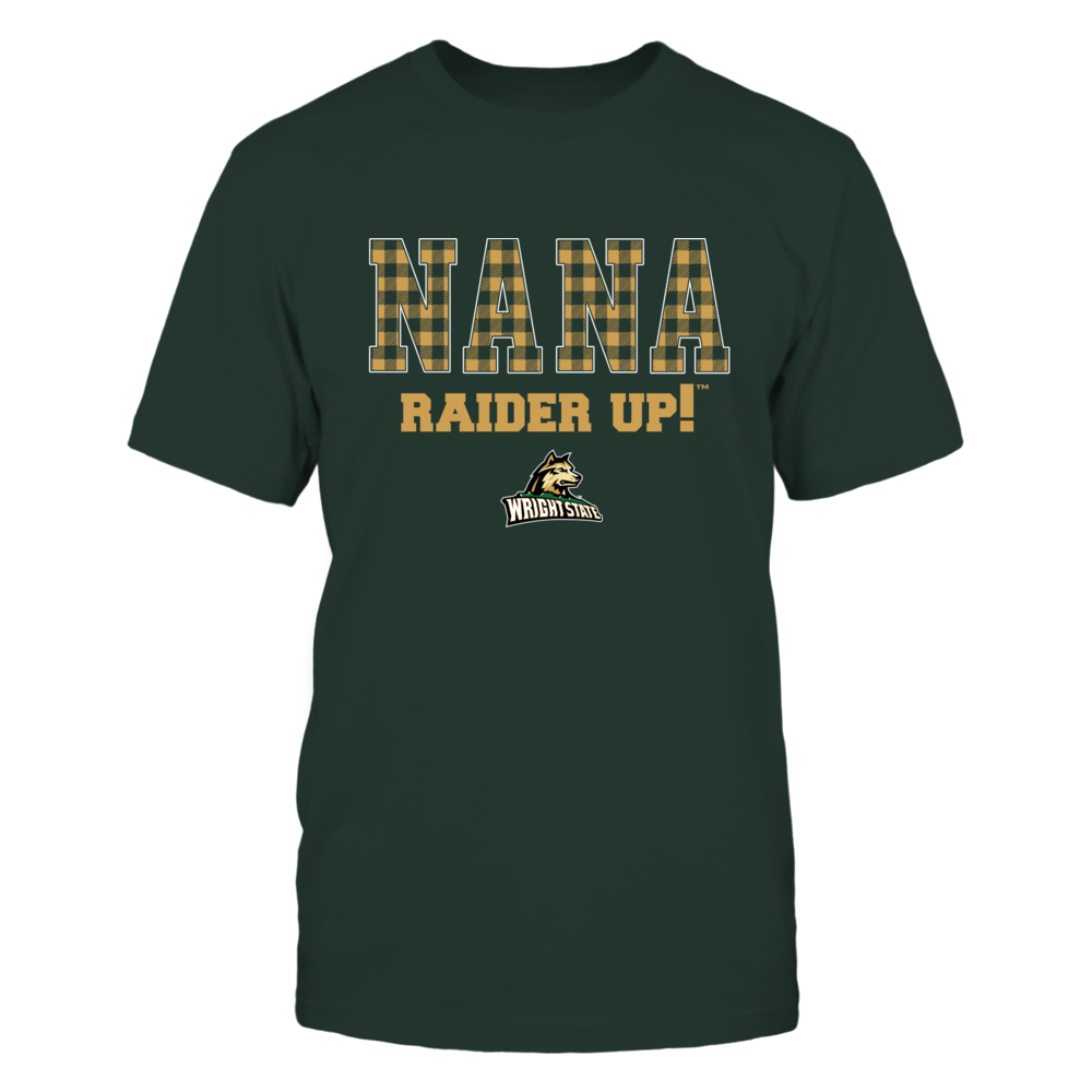 Wright State Raiders - Checkered Pattern - Slogan - Nana Front picture