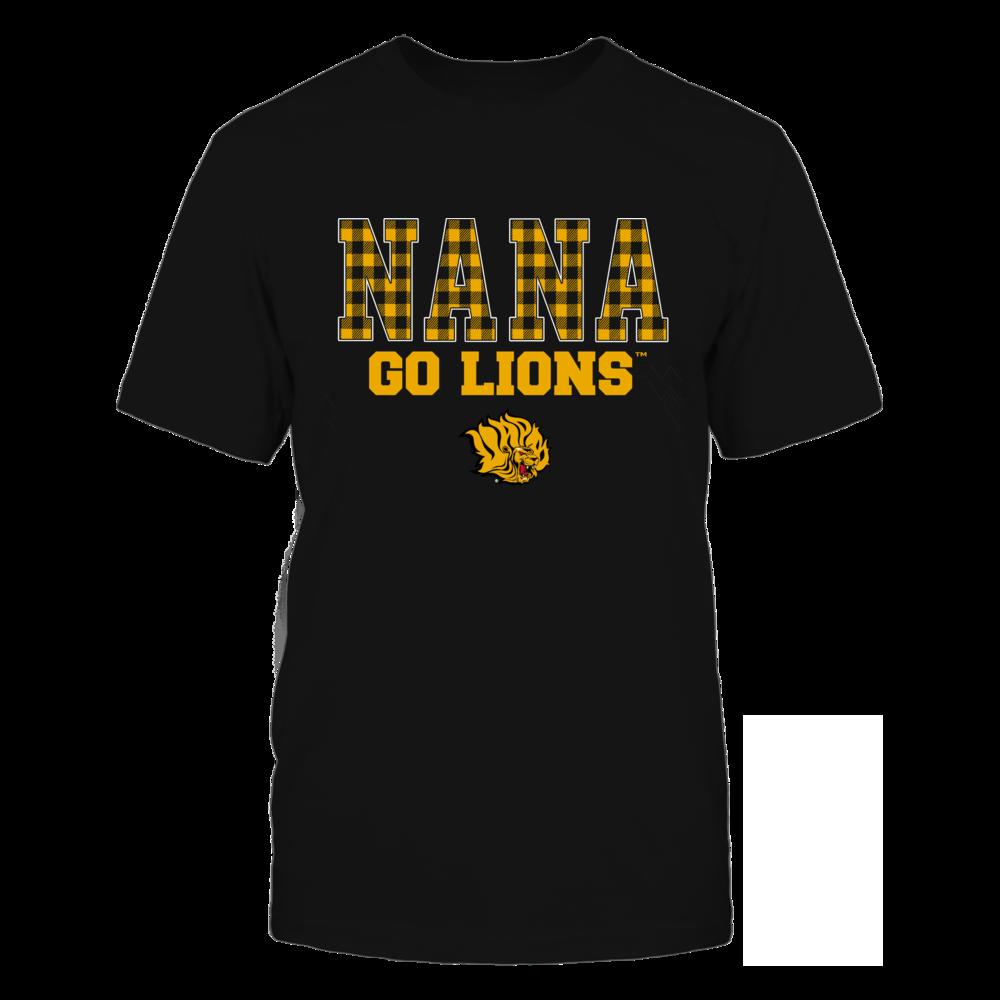 Arkansas Pine Bluff Golden Lions - Checkered Pattern - Slogan - Nana Front picture