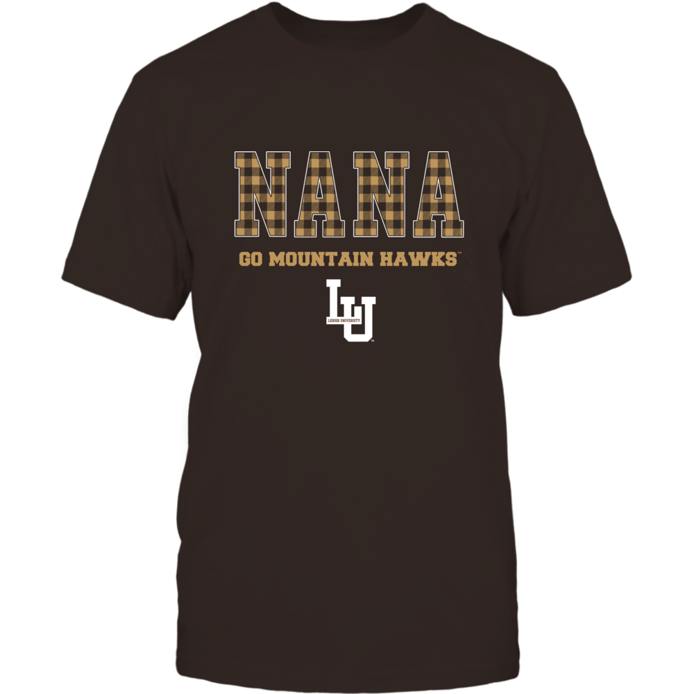 Lehigh Mountain Hawks - Checkered Pattern - Slogan - Nana Front picture