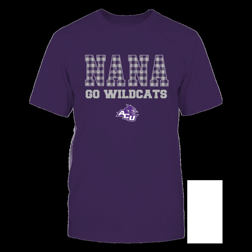 Abilene Christian Wildcats - Checkered Pattern - Slogan - Nana Front picture