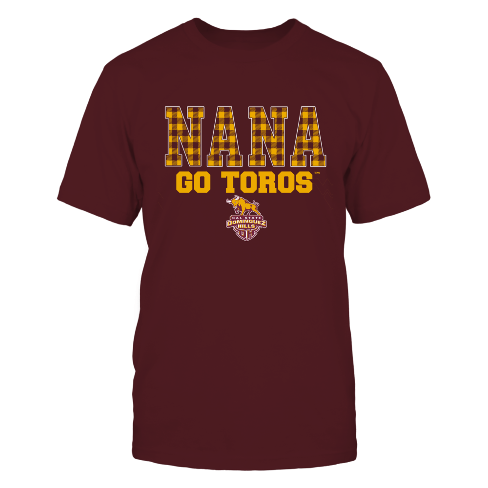 Cal State Dominguez Hills Toros - Checkered Pattern - Slogan - Nana Front picture