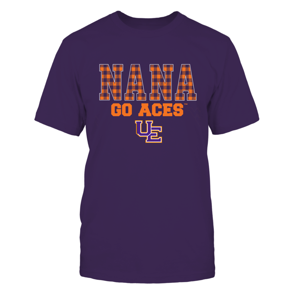 Evansville Purple Aces - Checkered Pattern - Slogan - Nana Front picture