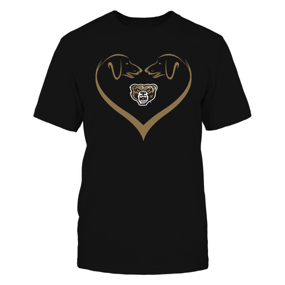 Oakland Golden Grizzlies - Dog Heart Shape - Team Front picture
