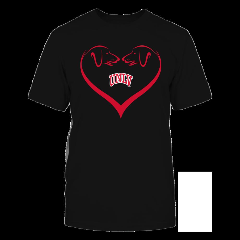 UNLV Rebels - Dog Heart Shape - Team Front picture