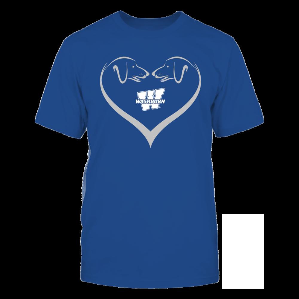 Washburn Ichabods - Dog Heart Shape - Team Front picture