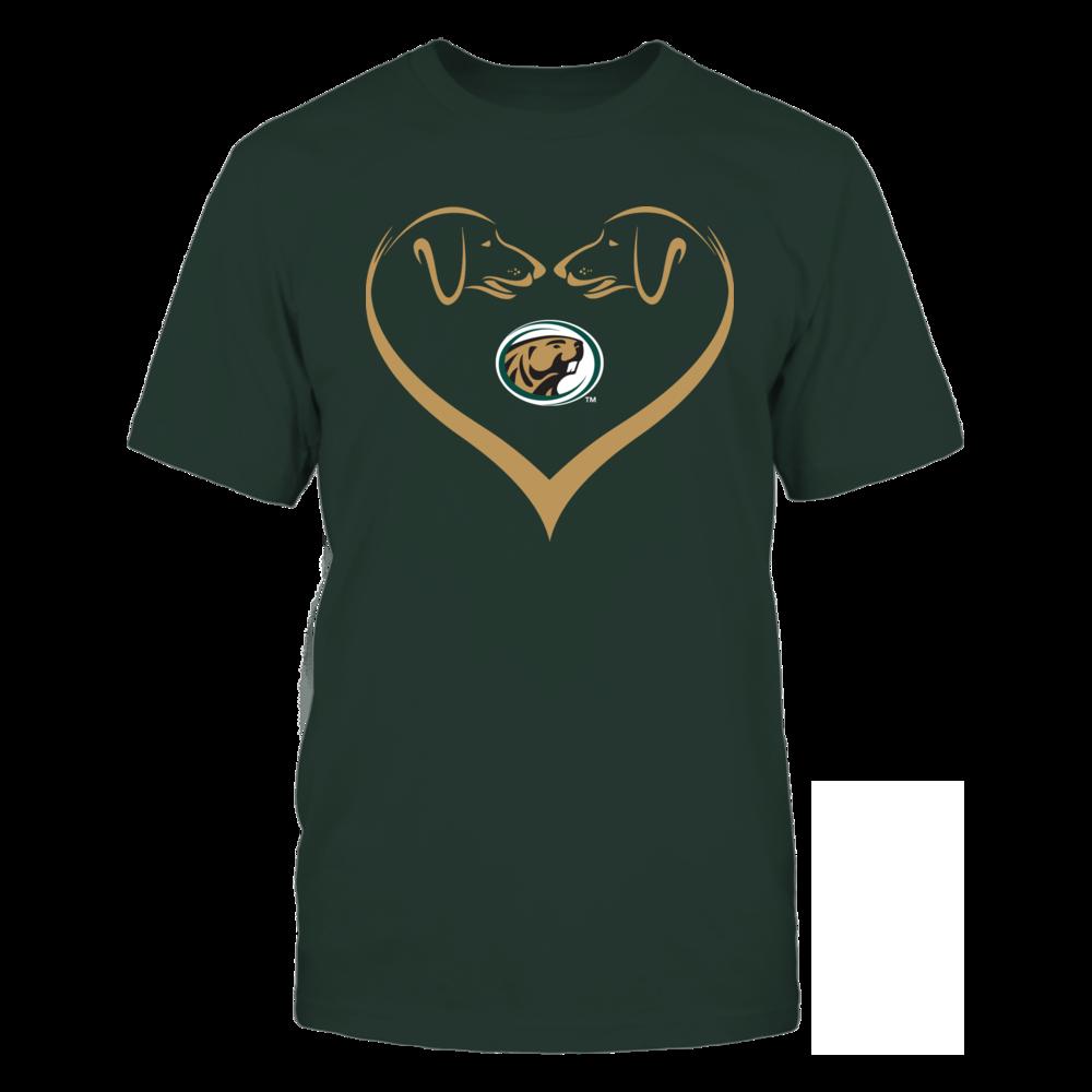 Bemidji State Beavers - Dog Heart Shape - Team Front picture