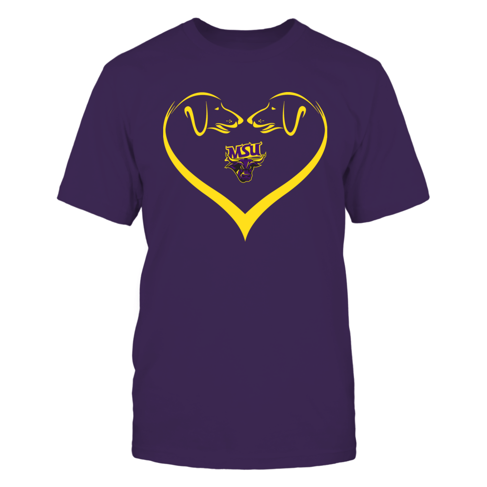 Minnesota State Mavericks - Dog Heart Shape - Team Front picture