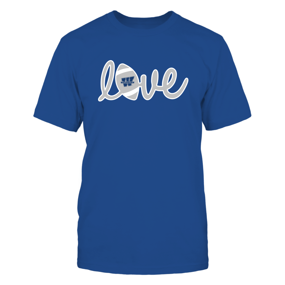 Washburn Ichabods - Lowercase Love - Football Front picture