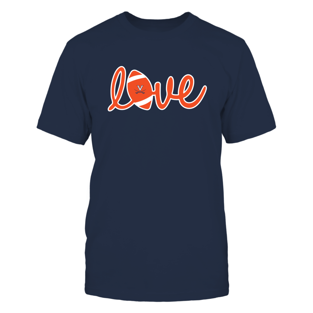 Virginia Cavaliers - Lowercase Love - Football Front picture